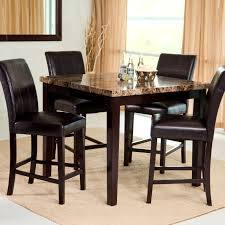 furniture winning round bar height table and chairs dining room