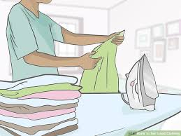 iron clothing 3 ways to sell used clothing wikihow