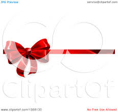 christmas gift bow clipart of a 3d christmas birthday or other gift bow