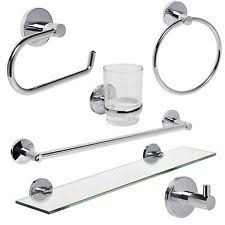 Bathroom Accessories Sets Chrome Bath Accessory Sets With Towel Ring Ebay