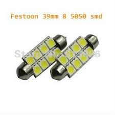 free shipping 39mm festoon 5050 8smd led light car 12 volts 8 smd