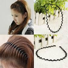 mens headband new 3pc mens women unisex black wavy hair accessories hoop