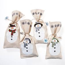 snowman christmas party favor bags christmas wikii