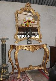 console table and mirror set french rococo gilt console table mirror set hand carved