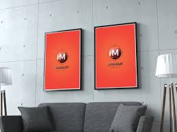 Home Interior Photo Frames Mockup - Home interior frames