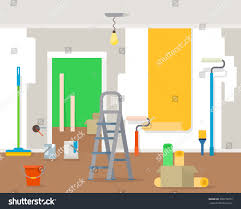 Home Interiors Gifts Inc Website by Room Repair Home Interior Renovation Apartment Stock Vector