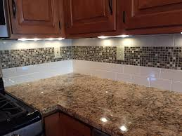 tiles backsplash kitchen subway tile backsplash with mosaic deco