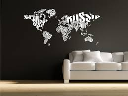 world map words wall sticker all about stickers world map words cool wall decal interior design and