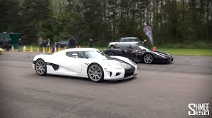 koenigsegg ccx ferrari enzo vs koenigsegg ccx drag race at hypermax youtube