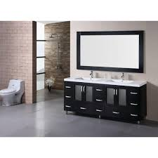 design element stanton vanity and mirror design element stanton vanity and mirror espresso with acrylic top white the home depot