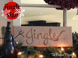 jingle all the way u2026 a burlap sign the pinterest project