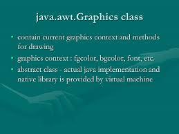 java and imaging paint paint methodpaint method awt