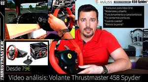 thrustmaster 458 review análisis review thrustmaster 458 spider para xbox one