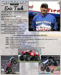 monster truck show springfield mo eric tack bigfoot 4 4 inc u2013 monster truck racing team