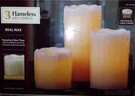 new 3 flameless led battery operated candles timer remote