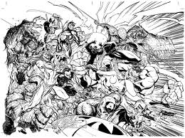 difficult avengers books and comics coloring pages for adults