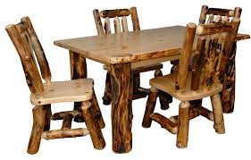 Dining Room Furniture Usa Furniture Barn Usa Rustic Aspen Log Kitchen Table Set With 4