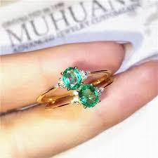 natural gem rings images Emerald ring 925 sterling silver natural real emerald fine green jpg