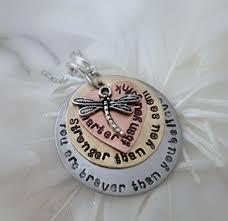 Personalized Hand Stamped Jewelry Amazon Com Personalized Hand Stamped Necklace U0027you Are Braver