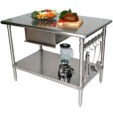 kitchen island with stainless top stainless steel kitchen island with butcher block top cabinets