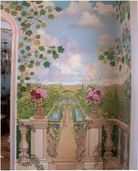 bonnie siracusa murals fine art closeup of tuscany garden mural great neck ny