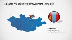 Mongolia Map Mongolia Map Powerpoint Template Slidemodel