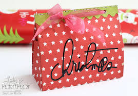 diy christmas gift boxes lady pattern paper scrapbooking paper