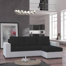 canape angle noir et blanc meuble de salon canapé canapé d angle noir et blanc sofamobili