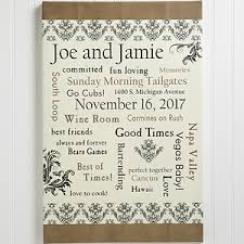 personlized wedding gifts our together 12x18 personalized wedding canvas wedding