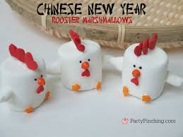 rooster marshmallows chinese new year 2017 rooster dessert cute