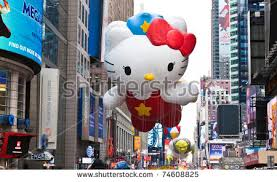 manhattan november 25 character balloon stock photo