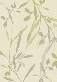 tappeti verdi tappeto da interno albatros crema con design a foglie verdi