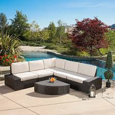 wicker outdoor sofa ajna living the new standard wicker 7 piece patio conversation set