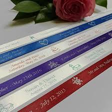 personalized wedding ribbon personalized wedding ribbon customized with your