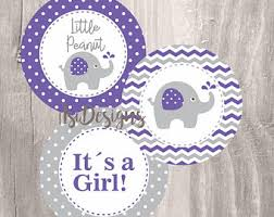purple elephant baby shower decorations purple elephant etsy