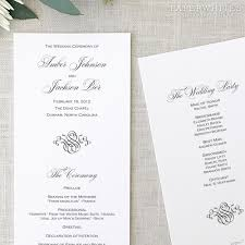 photo wedding programs black tie wedding programs paperwhites wedding invitations