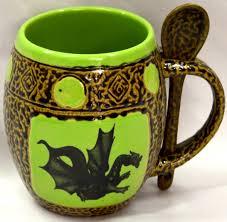 dragon mug set of 4 mugs with spoons dragon gifts fairyglen com
