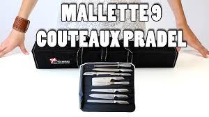 couteaux de cuisine pradel présentation de la valise 9 couteaux tout inox pradel excellence