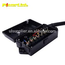 s10315 new 7 way trailer wire cord junction box color coded splice