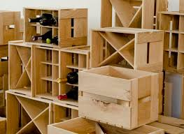 stylish wine storage boxes vintage wine rack crate wood wine rack