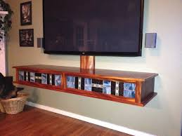 wall mount media cabinet furniture brown wooden floating media cabinet with storage and