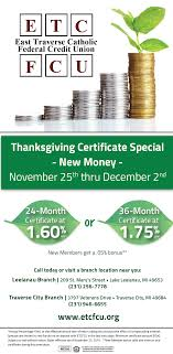 thanksgiving cd thanksgiving cd special traverse catholic federal credit union