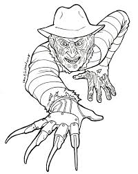 freddy krueger coloring pages just colorings