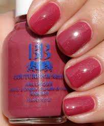 dark strawberry pink with cosmic glitter nail colors for girls women