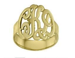 gold monogram ring interlocking gold monogram ring carolina clover