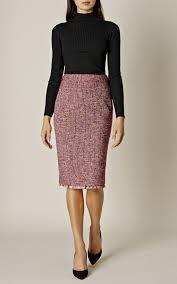 tweed skirt fringed tweed skirt millen