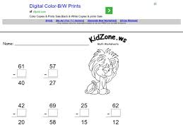subtraction subtraction worksheets with missing addends free