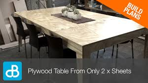 How To Make A Dining Room Table How To Build A Table From Only 2 Sheets Of Plywood By Soundblab