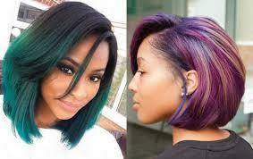 trendy black women straight bob hairstyles blackhairlab com
