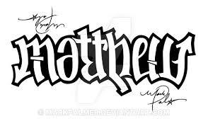 Tattoo Idea Generator Matthew And Andrew Ambigram By Markpalmer On Deviantart